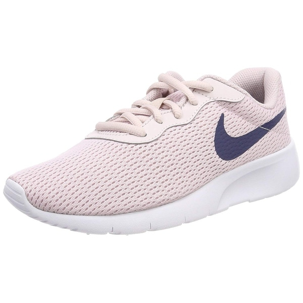 30bcf02c33a Shop Nike 818384-600  Girl s Tanjun Barely Rose Navy White Sneaker ...