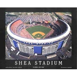 ''Shea Stadium - Flushing, New York'' by Mike Smith Stadiums Art Print (22 x 28 in.)