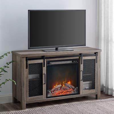 The Gray Barn Kujawa Fireplace TV Stand Console