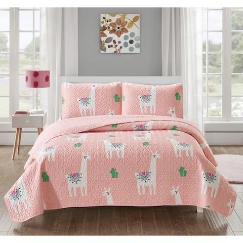 Cool Llama 3-piece Quilt Set