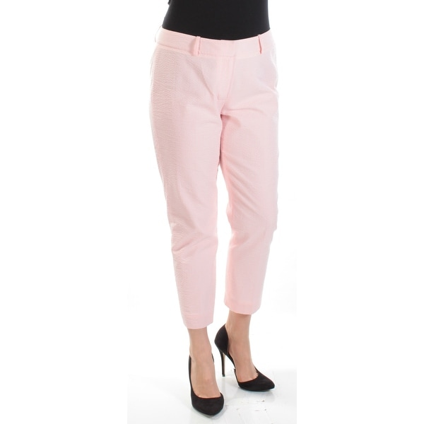 a8fec4e2 Shop TOMMY HILFIGER Womens Coral Check Cropped Pants Size: 10 - On Sale -  Free Shipping On Orders Over $45 - Overstock - 21393037
