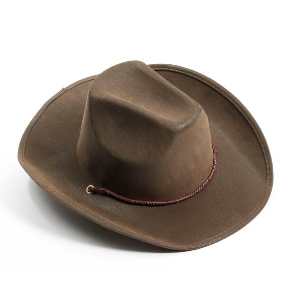 Brown Suede Cowboy Costume Hat