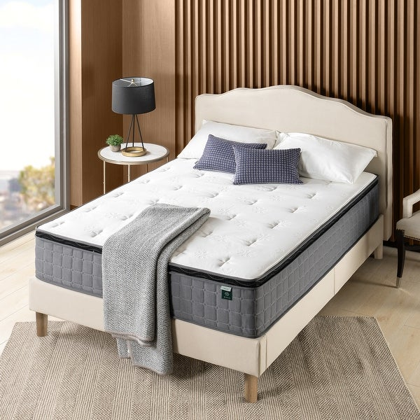 Priage by ZINUS 12-inch Cool Touch Comfort Gel-infused Hybrid Mattress. Opens flyout.