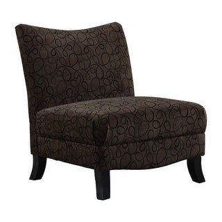 Monarch Specialties Armless fabric accent chair I Armless Fabric Occasional Accent Chair