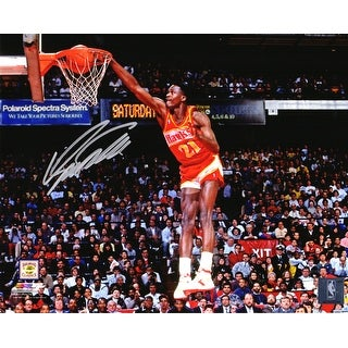 Dominique Wilkins Atlanta Hawks One Hand Slam Dunk 8x10 Photo