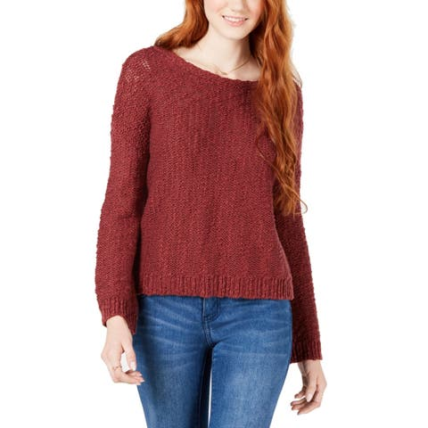 Roxy Women's Red Size Small S V-Back Textured Knit Pullover Sweater