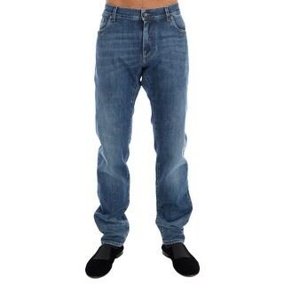 Dolce & Gabbana Blue 14 STRETCH Logo Jeans - it56-xxl