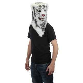 White Tiger Mouth Mover Adult Costume Mask