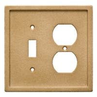 Franklin Brass W30355-C Single Toggle Switch and Single Duplex Wall Plate