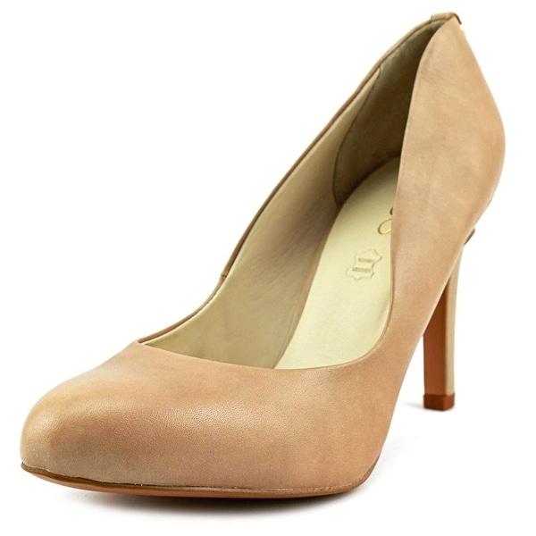 Aldo Nydeassi Women Round Toe Leather Nude Heels