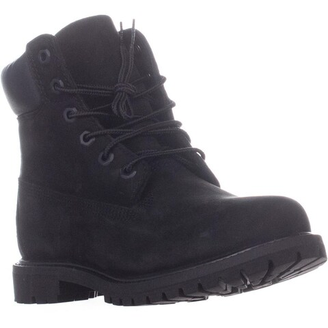 Timberland 6-Inch Premium Lace Up Boots, Black