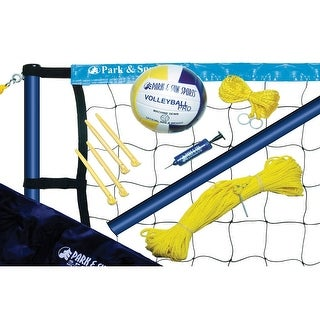 Park & Sun Sports Spiker Sport Steel Volleyball Set - Blue
