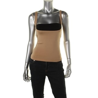 Heavenly Shapewear Womens Stretch Cami Stomach Shaper - L