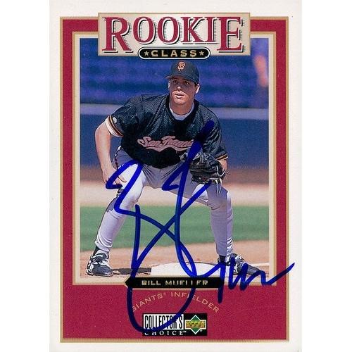 Signed Mueller Bill San Francisco Giants 1997 Upper Deck Baseball Card Autographed