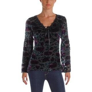 Nanette Lepore Womens Blouse Velvet Silk