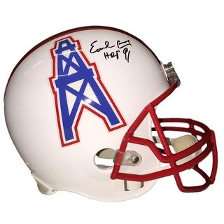 Earl Campbell Signed Houston Oilers Full Size Replica Helmet HOF 91 JSA