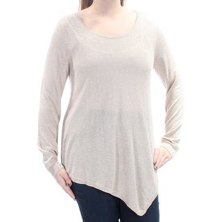 JOIE $218 Womens New 1135 Gold Metallic Long Sleeve Trapeze Sweater L B+B