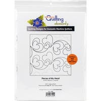 """Quilting Creations Printed Tear Away Quilting Paper 4/Pkg-Pieces Of My Heart 5.25"""""""