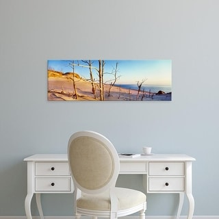 Easy Art Prints Panoramic Image 'Bare trees, Ghost Forest, Sleeping Bear Dunes National Lakeshore, Michigan' Canvas Art