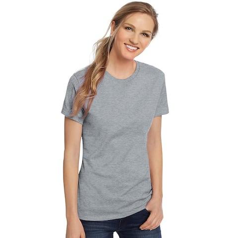 Hanes Women's Nano-T® T-shirt - Size - L - Color - Light Steel