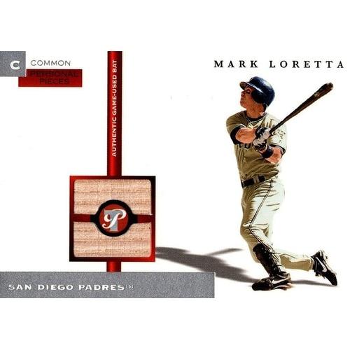 best loved 11ab9 97a94 Signed Loretta Mark San Diego Padres Mark Loretta 2005 Topps Pristine  Unsigned Baseball Bat Relic C
