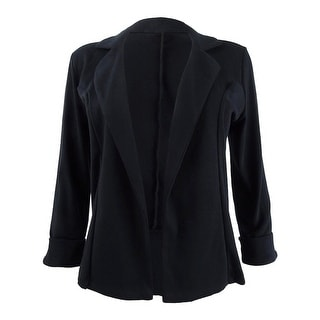Link to Maison Jules Women's Knit 3/4 Sleeve Blazer - Deep Black Similar Items in Suits & Suit Separates