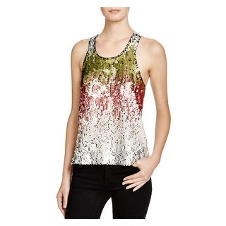 Elizabeth and James Womens Marla Tank Top Sequined Heathered
