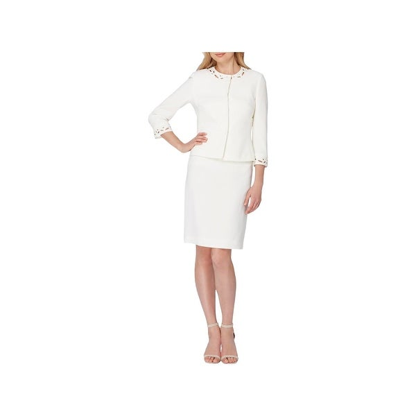 c21cf0f3778f Shop Tahari ASL Womens Skirt Suit 2PC Embellished - Free Shipping Today -  Overstock - 22532500