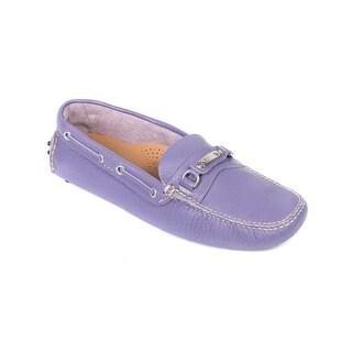 Original Car Shoe Women's Lavender Leather Drivers Moccasins
