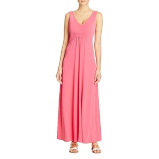 T Tahari Womens Nima Maxi Dress Matte Jersey Ruched