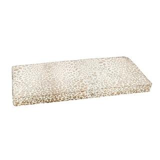 Sunbrella Tan Leopard Indoor/Outdoor Bench Cushion, Corded