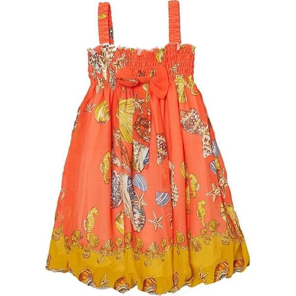 75e03805d1a51 Wenchoice Little Girls Orange Shellfish Straps Chiffon Baby Doll Dress