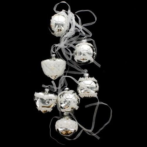 Glass Silver Bundle Ball