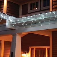 TORCHSTAR 16.4ft Christmas LED Icicle Lights for Holiday, Pure White