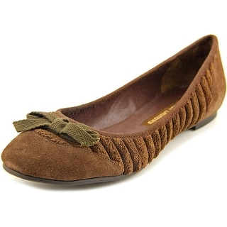 Chinese Laundry Dovie Women Round Toe Canvas Brown Flats