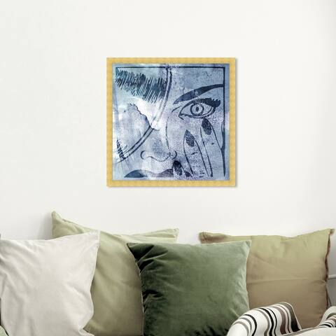 Oliver Gal 'Revenge' Fashion and Glam Wall Art Framed Print Portraits - Blue, Blue