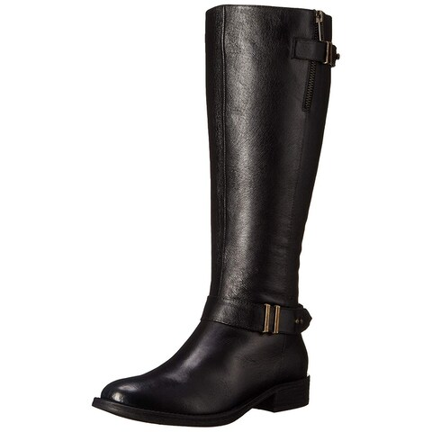 Steve Madden Womens Alyww Leather Almond Toe Knee High Fashion Boots