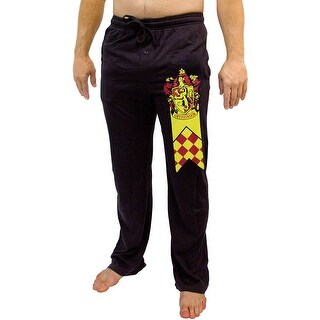 Harry Potter Men's House Banner And Crest Lounge Sleep Pajama Pants