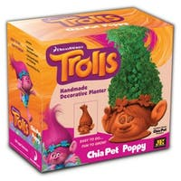Chia Pets CP240-16 Trolls Handmade Poppy Decorative Clay Planter