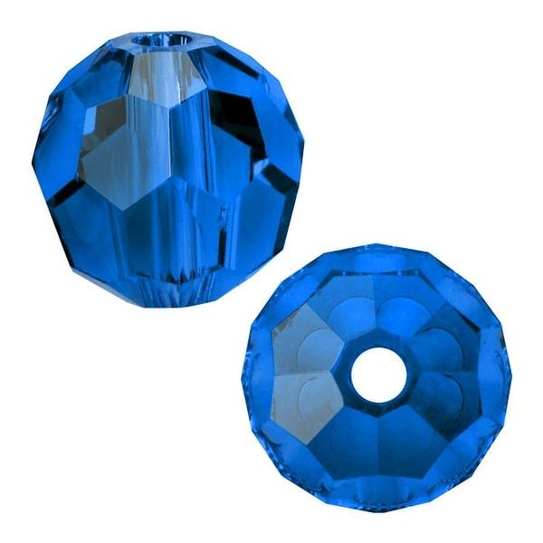Swarovski Elements Crystal, 5000 Round Beads 6mm, 10 Pieces, Capri Blue