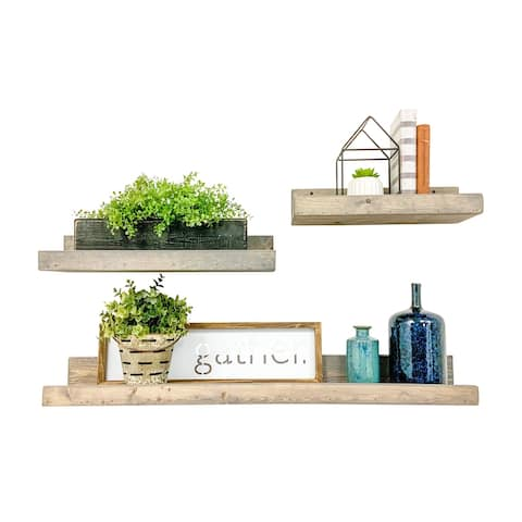 Shallow Luxe Three Piece Set Floating Shelves by Del Hutson Designs