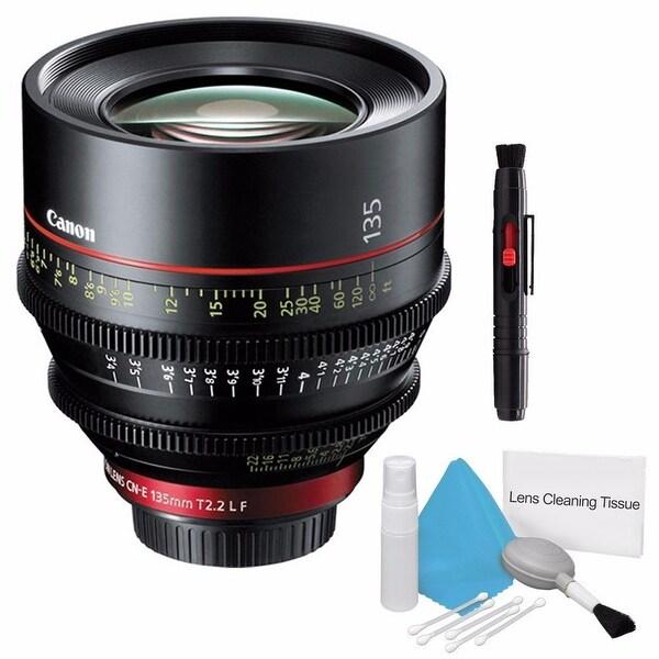 Canon CN-E 135mm T2.2 L F Cinema Prime Lens (EF Mount) (International Model) + Deluxe Cleaning Kit Bundle (AF6CANCNE13522LFB3)