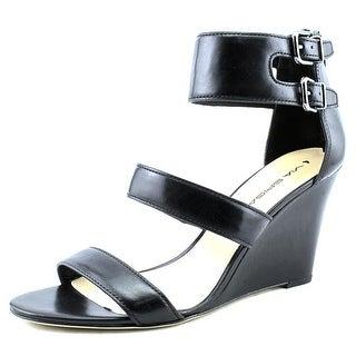 Via Spiga Fernanda Women Open Toe Leather Wedge Sandal