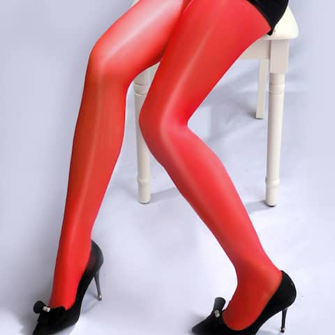 Sexy Women Sheer Pantyhose Oil Glossy Ultra Thin Solid Color Tights Stockings