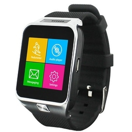 Indigi® NEW SWAP2 (SmartWatch and Phone) Universal Bluetooth Sync + Built-In Camera + Speaker - 3G Unlocked for AT&T / T-Mobile