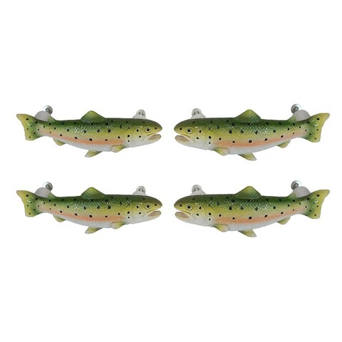 Set of 4 Rainbow Trout Drawer / Cabinet Door Pulls - 2 X 5.5 X 2 inches