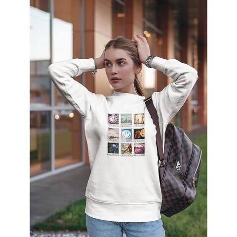 Set Of Smiley Faces Sweatshirt Women's -Smiley Designs