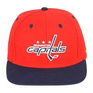 NHL Washington Capitals Red Navy 2 Tone Snapback Retro Cap