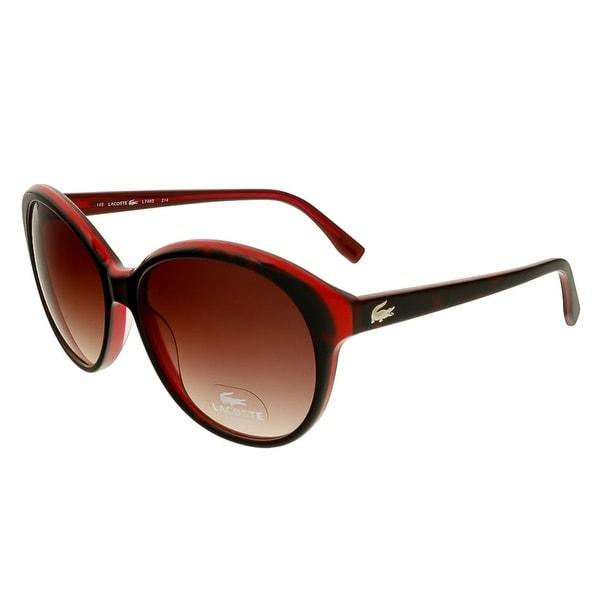 Lacoste L748S 214 Havana/Red Round Sunglasses - 57-15-140
