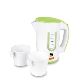 ZZ T366 Dual Voltage Travel Electric Kettle with 0.5 Liter Water Tank Capacity 1000-Watt, Green